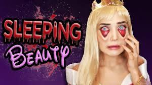 tired sleeping beauty halloween makeup