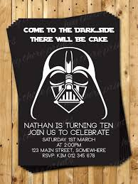 Darth Vader Birthday Invitations Star Wars By Heythereprints On