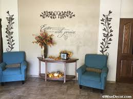 church decor ideas with wall decal and