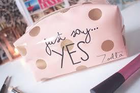 zoella just say yes makeup bag super