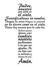 The Lord S Prayer Wall Art Is An Inspirational Christian Vinyl Wall Decal Displaying The Our Father In The Form Of A Cross Spanish Version Wantitall
