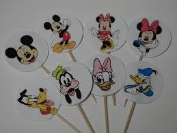 Venta Conjunto De 12 Cupcake Salciones Mickey Minnie Pluto Etsy