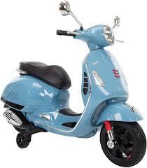 Amazon.com: Huffy Kids Battery 6V Ride-On Vespa Scooter Blue: Toys & Games