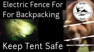 Bear Proofing A Tent With An Ultralight Electric Fence Back Country Camping In Grizzly Areas Youtube