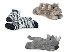 Aurora Howard Hippo Zany Zebra Rhino Mini Flopsie