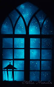 Glow In The Dark Wall Decal Star Window With Lantern Stella Murals