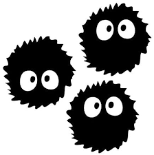 Amazon Com Leon Online Box Dust Ball Soot Sprite Vinyl Decal 12cm Black Sticker For Car Ipad Laptop Helmet Toys Games