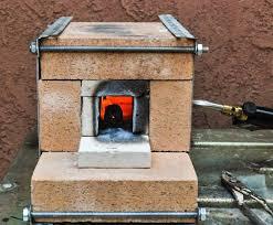 diy fire brick torch forge