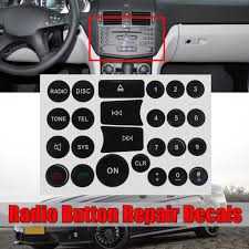 1 2pcs Radio Buttons Repair Sticker Decal Set For Mercedes Benz C E Glk And W Class Cars Buy At A Low Prices On Joom E Commerce Platform
