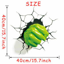 3d Hulk Fist Wall Sticker Superhero Avengers Wall Decals Kids Boys Room Decor Home Garden Children S Bedroom Boy Decor Decals Stickers Vinyl Art