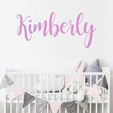 Amazon Com Personalized Custom Name Wall Decal For Baby Girl Nursery Room Anti Glare Large Matte Vinyl Monogram Lettering Safe On Walls Paint Made In Usa Handmade To Order