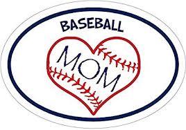 Baseball Decal Oval Baseball Mom Heart Baseball Vinyl Decal Baseball Bumper Sticker Baseball Mom Decal Perfect Baseball Mom Gift Made In The Usa Amazon In Car Motorbike
