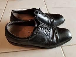 lace up black kangaroo leather shoes