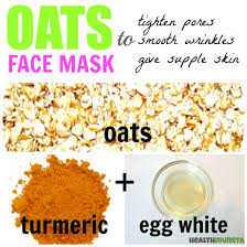 face mask recipes with simple raw oats
