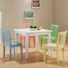 Coaster Kinzie 460235 5 Piece Youth Table And Chair Set Sam Levitz Furniture Dining 5 Piece Sets