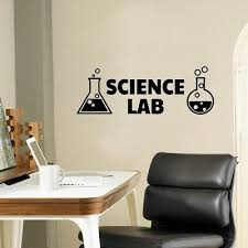 Science Lab Vinyl Wall Decals Chemistry Sticker For Science Classroom Decor Ebay