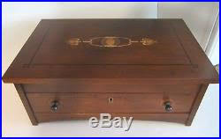 solid cherry jewelry box mint made in usa