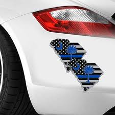 Amazon Com Iopada 11 7cm X 8 1cm Vinyl Car Decal Car Personality Sc South Carolina Police Flag Stickers For Windows Laptop Decal Home Kitchen