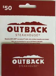 50 gift card outback steakhouse