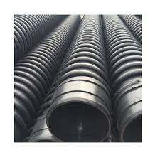 black corrugated plastic drainage pipe