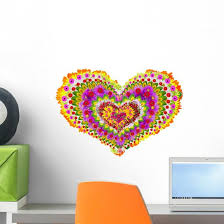 Floral Heart Mandala Wall Decal Wallmonkeys Com