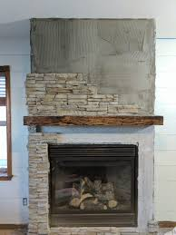 stacked stone fireplace remodel