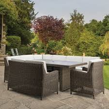 handwoven modular garden dining set