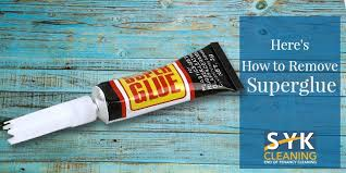 how to remove super glue syk cleaning