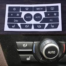 Citall Car Ac Dash Climate Control Panel Button Repair Sticker Decal Kit Fit For Bmw 5 Series 2012 2013 2014 2015 2016 2017 2018 Car Stickers Aliexpress