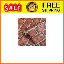 self adhesive wallpaper red brick