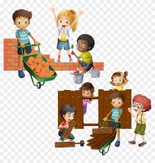 Wall Brick Building Clip Art Child And Building A Fence Cartoon Png Download 3657940 Pikpng