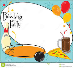 Invitacion De La Fiesta De Cumpleanos Del Bowling Ilustracion Del