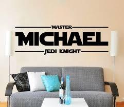 Amazon Com Star Wars Name Decal Quote Master Jedi Knight Name Vinyl Wall Decals Sticker Custom Decals Star Walrs Quotes Personalized Name Decor Kids Teens Boys Room Nursery Art Zx63 Handmade