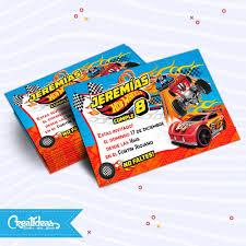 Hot Wheels Autos Tarjetas Invitaciones Personalizadas 145 52