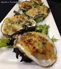 Oysters Rockefeller Oysters on the half ...