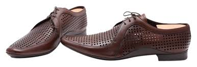 mens perforated lace up leather flats