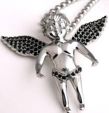 s 316l stainless steel angel pendant