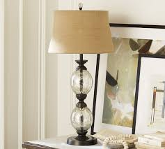 stacked mercury glass table lamp base