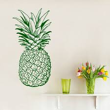 Shop Pineapple Fruit Food Kitchen Decor Cafe Vinyl Sticker Home Birthday Interior Design Sticker Decal Size 22x35 Color Green Overstock 14755342