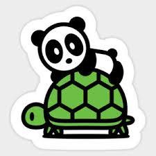 Sea Turtle Kawaii Cute Panda Vinyl Wall Decal Decor Sticker Meme Quote Ebay