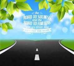 road of life quotes failure and success symbols realistic