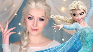 elsa frozen makeup transformation