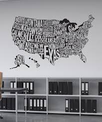 Vinyl Wall Decal Sticker United States Map 1275 Stickerbrand