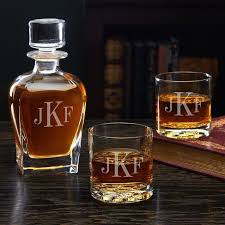 classic monogram engraved decanter and