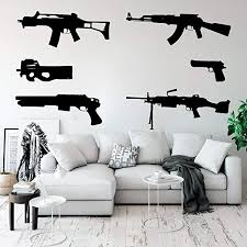 Amazon Com Cool Set Of 6 Guns Wall Decal Kids Room Boy Room Weapon Army Solider Military Wall Sticker Bedroom Play Room Vinyl Home Decor Arts Crafts Sewing