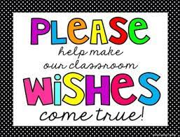 Image result for classroom wish list