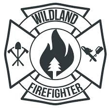 Wildland Firefighter Maltese Cross Window Decal Police Fire Ems Viny Graphics Stickers Decals Dkedecals