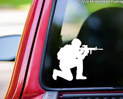 Military Combat Sniper Soldier Custom Vinyl Decal Sticker 5 5 X 4 5 United States Army Marines Minglewood Trading
