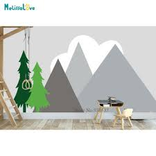 2m Large Size Hilltop Mountain Wall Decal Diy Self Adhesive Nursery Wall Decor Art Mountain Mural Home Decorative Sticker Lc1240 Buy At The Price Of 42 07 In Aliexpress Com Imall Com