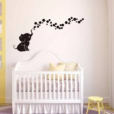 Elephant Blowing Bubbles Vinyl Wall Decal Kids Room Decor Diy Art Mural Wallpaper Removable Wall Stickers Wall Sticker Removable Wall Stickersvinyl Wall Decals Aliexpress